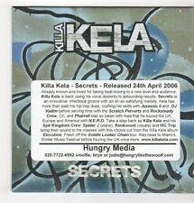 (GU630) Killa Kela, Secrets - 2006 DJ CD