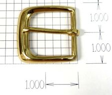 Solid Brass Belt Buckle Square - New - Fits 1.375