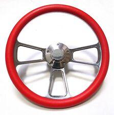 "El Camino Chevy Super Sport SS Red Steering Wheel 14"" Billet Muscle Style Wheel"