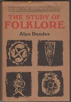 1965 The Study of Folklore by Alan Dundes (HC/DJ) History Illustrated