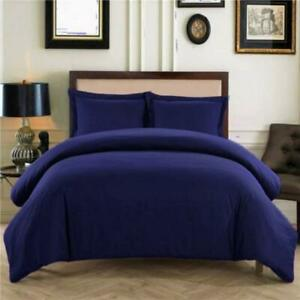 Home Bedding Collection 1000 TC Egyptian Cotton All Sizes & Navy Blue Solid