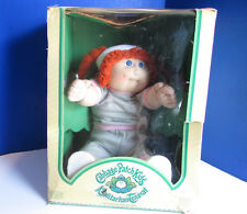 Vintage Cabbage Patch Kids Doll RARE Kaalitarhan Tenavat Foreign Red Hair Box