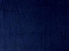 NAVY BLUE COTTON SPANDEX STRETCH NEEDLECORD CORDUROY DRESSMAKING CRAFT FABRIC PM