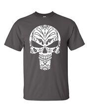 29ac34eb4 Punisher Sugar Skull T-Shirt Day Of Dead Crossover Tee Dia De Los Muertos  Death