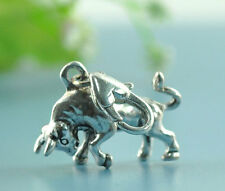 10 Bull Clip On Charms. Fit Link Chain Bracelet