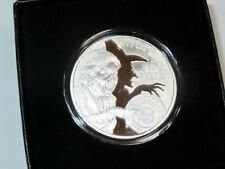 SILVER SHIELD 2016 BURN THE WITCH 1OZ DBL OBVERSE PROOF 435 MADE 999 FINE SILVER