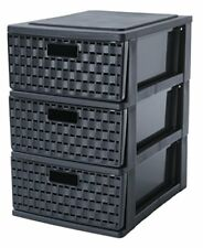 Country Tower Storage Drawer, Black, A5 1453608080