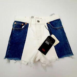 Levi's Womens Wedie Shorts High Rise Snug Size 23 Multicolor Cotton DV31