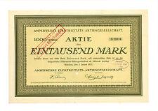 Amperwerke Elektricitäts-AG 1000 RM 1923 München