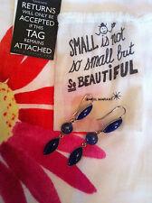 NOUVEAU Boucle d'oreille oreille chandeliers ISABEL MARANT argent silver Bleu Blue Obsidian