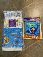 1994 Scholastic Magic School Bus Loot Bags and Table cloth party supplies