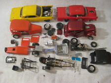 Vintage model car junkyard lot