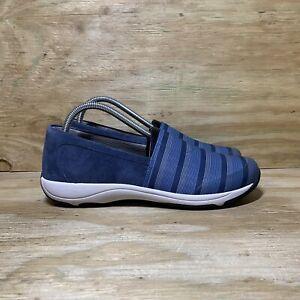 Dansko Harriet Stretch Suede Slip-On Shoes, Women's size 9.5-10 / EU 40, Blue