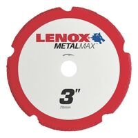 "Lenox Tools 1972918 METALMAX Diamond Edge Cutoff Wheel, 3"" x 3/8"""