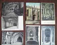 Collection 7 antique postcards Lisbon Portugal 1890s architecture