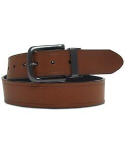 Levi's Mens Reversible Bonded Leather Casual Belt Black Brown M 34-36