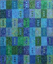 Zen Quilt Kit,Blue Underground Studio,Includes pattern & batik fat quarters, DIY