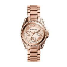 Michael Kors MK5613 Ladies Mini Blair Multi-function Watch Rose Gold Plated SS