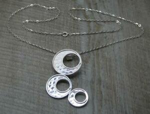 Stunning Scottish H/M Silver Tianguis Jackson Contemporary Pendant & Chain