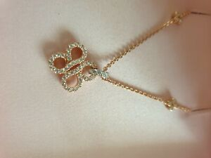 Be Boodles Pave Rose Gold And Platinum Pendant