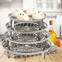 4X Stainless Steel Steamer Rack Stock Pot Steaming Tray Stand Cookware Tools