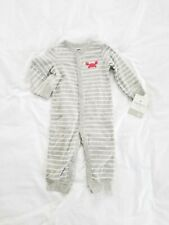 NWT Carters Baby Boy Romper Sleeper 6 Months Gray Striped Lobster Gift New