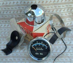 RARE 1969 AMC Scrambler Rambler Factory Sun Tachometer ST-635 NOS NC4 CUP Works!