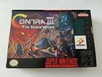 Contra III [3] The Alien Wars - Super Nintendo SNES Game [NTSC USA] - CIB