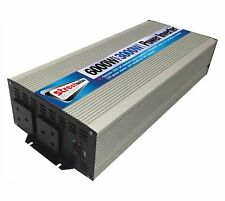 DC - AC 3000W Battery 230V Mains Power Inverter Mobile Supply Camping 6000W Peak
