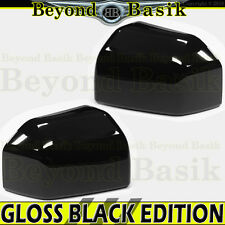 2015-2018 Ford F150 F-150 GLOSS BLACK Mirror Covers Overlays Trims for NON TOW