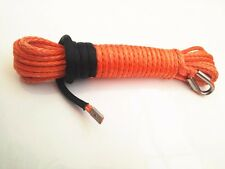 Orange 5/16*50ft Synthetic Winch Rope,Off Road Rope,ATV Winch Cable,Tow Rope Car