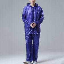 New Adult Raincoat Suit Unisex Hooded Rainwear Jackets Pants Fishing Workwear