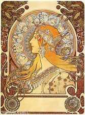 Alphonse Maria Mucha Zodiac Oil Painting Canvas Print 24''x32''