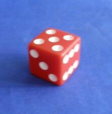Clue Red Die Replacement Game Parts Pieces 00045 Parker Brothers 1998