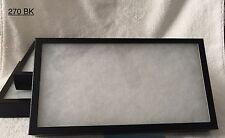 "#270 (8)Riker Mount Display Case Shadow Box Frame Tray 14 1/2"" X 7 3/4"" X 1 1/2"""