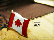 Canada badge Country Flag Lapel Hat Cap Tie Pin Badge  --20mm*15mm.