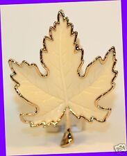 1 Bath & Body Works Wallflowers Gold Tipped Maple Leaf Unit Diffuser Plug Holder