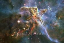 MYSTIC MOUNTAIN, Hubble Deep Space Reproduction Rolled CANVAS PRINT 33x24 in.