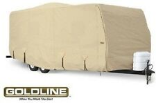 Goldline RV Cover Travel Trailer 26 to 28 foot Tan