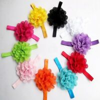 Kids Girl Baby Accessories Toddler Hair Bow Headband Headwear Lace Flower