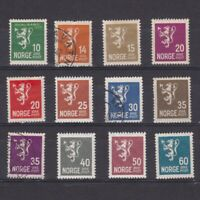 NORWAY 1926-1934, Sc# 115-128, CV $119, part set, MH/MNH/Used