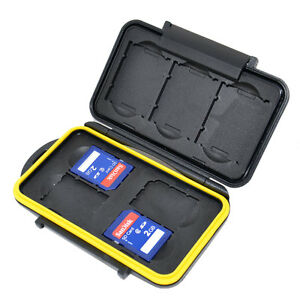 NEW JJC MC-XQDSD7 Memory Card Hard Case for 3 XQD + 4 SD Cards Secure with lock