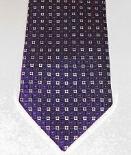 Purple check tie Tiny white squares F&F mens wear machine washable Extra Long