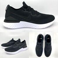 Nike Mens Epic React Flyknit 2 BQ8928 002 Black Gun Smoke Running Shoes Size 12