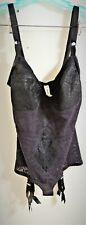 "Vintage All-in-one Body Suit by ""Rago"" Womens 48D with 4 Trolley Garters"