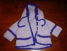 "Purple Handmade Knit Hoodie 16-18"" Cpk Cabbage Patch Kids"