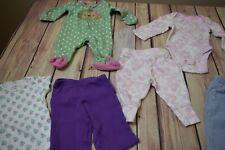 Newborn Baby Infant Girls Clothing Lot Bodysuits Sleeper Pants