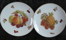 Vintage Mitterteich Bavaria Germany Debra Pair of Porcelain Dessert Plates