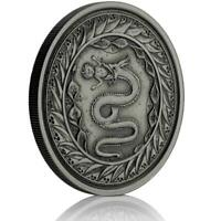2020 1 oz Serpent of Milan .999 Silver Coin - Antique Finish #A495