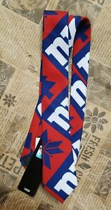 NFL New York Giants Patches Ugly Printed Tie - Mens
